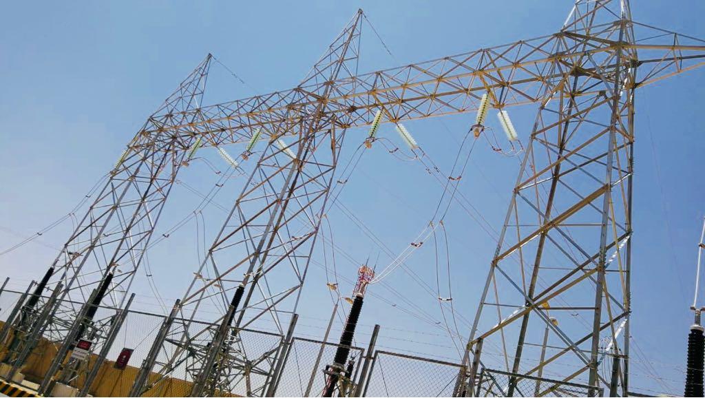 صورة لأحد محطات التحويل التي تم ربطها بالشبكة الكهربائية التابعة للشركة الوطنية لنقل الكهرباء