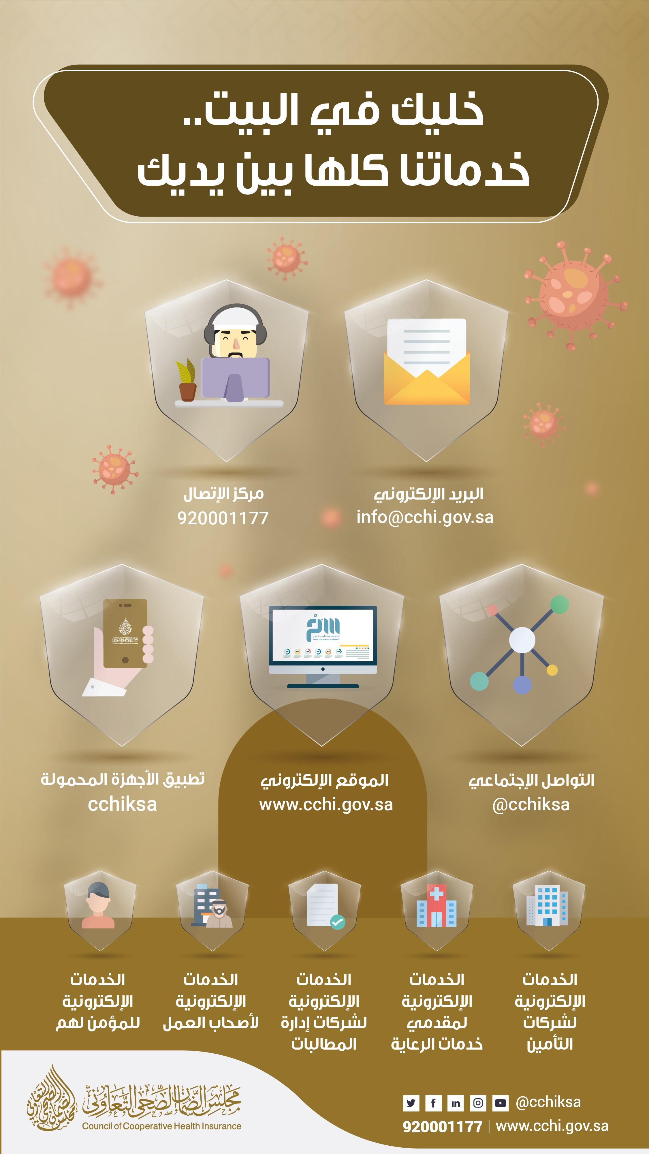 جرافيك حملة خليك بالبيت خدماتنا بين إيديك