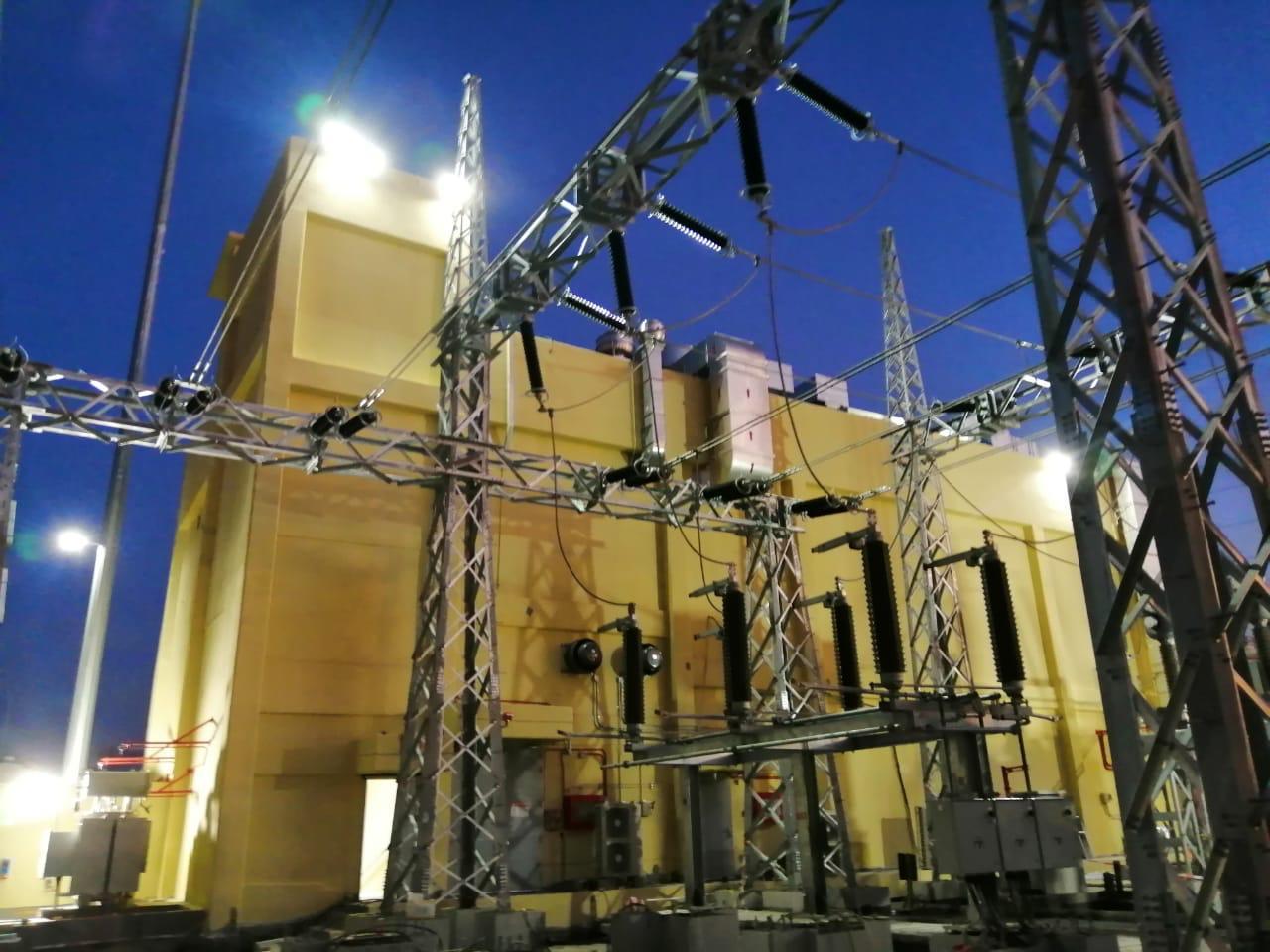 إنجاز مشروع رفع الطاقة الاستيعابية لمحطة عرفات1، بمقدار 134 م