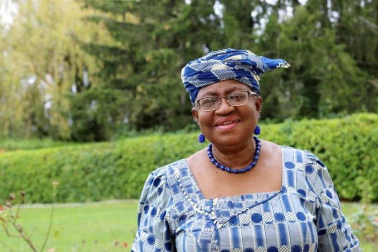 FILE PHOTO: Ngozi Okonjo-Iweala poses outside a Nigerian diplomatic residence in Chambesy, near Geneva, Switzerland, September 29, 2020. REUTERS/Emma Farge/File Photo