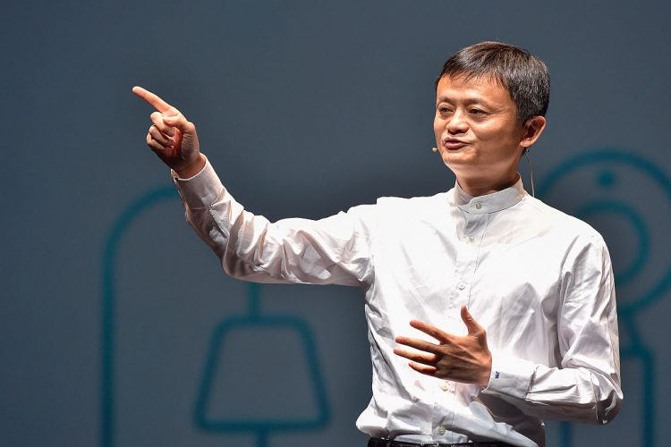 CHIBA, JAPAN - JUNE 18:  Jack Ma,CEO of the Alibaba Group  speaks during the news conference on June 18, 2015 in Chiba, Japan. Softbank Corp. announced that its humanoid product, Pepper, developed by the company's Aldebaran Robotics unit, will be available for consumers at 198,000 yen on June 20, 2015. SoftBank Corp. also announced that  Alibaba Group Holding Limited and Foxconn Technology Group reached an agreement that Alibaba and Foxconn will each invest 14.5 billion in SoftBank Robotics Holdings Corp., to promote Softbank's robotic business including Pepper to the global market.  (Photo by Koki Nagahama/Getty Images)